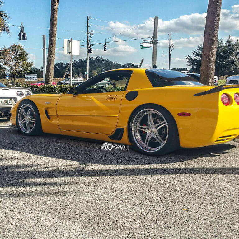 2003 Chevy Corvette Z06 | 19″ & 20″ AC Forged Wheels Split 5 | Hankook evo Tires | AudioCityUsa