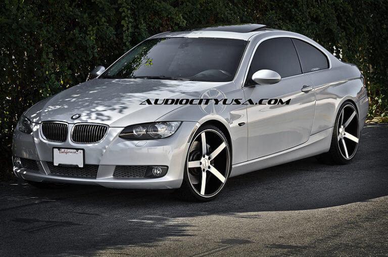 20″ Vossen CV3 Black machine on BMW 335 i