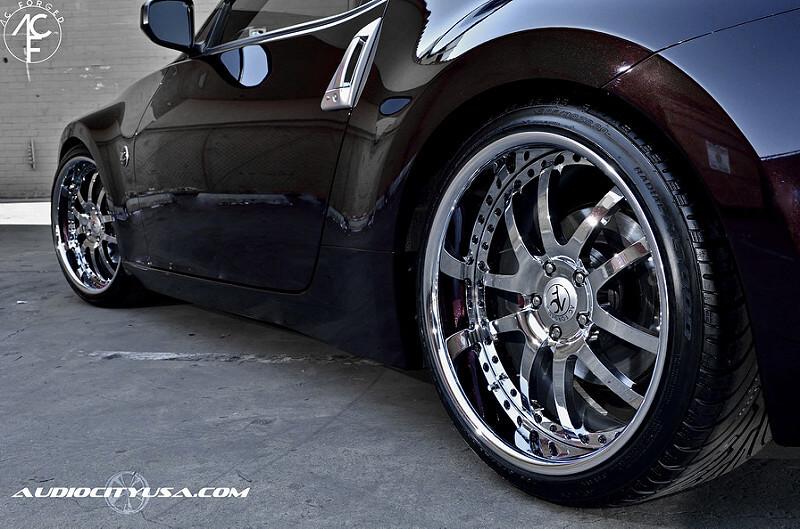 "20"" AC Forged 312 Chrome on 2012 Nissan 370 Z"