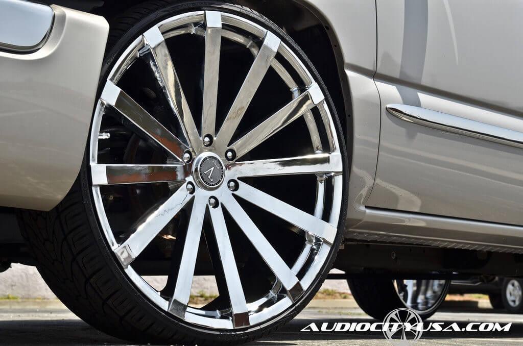 "La Sierra Tires >> 2006 GMC Sierra | 26"" Velocity VW12 Wheels Chrome Rims | AudioCityUSA | BLG082816 - BlogBlog"