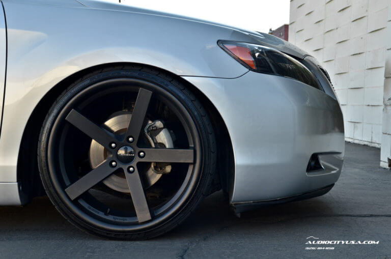 **Camry on STANCE** 20″ Giovanna Mecca matte black on 2008 Toyota Camry.