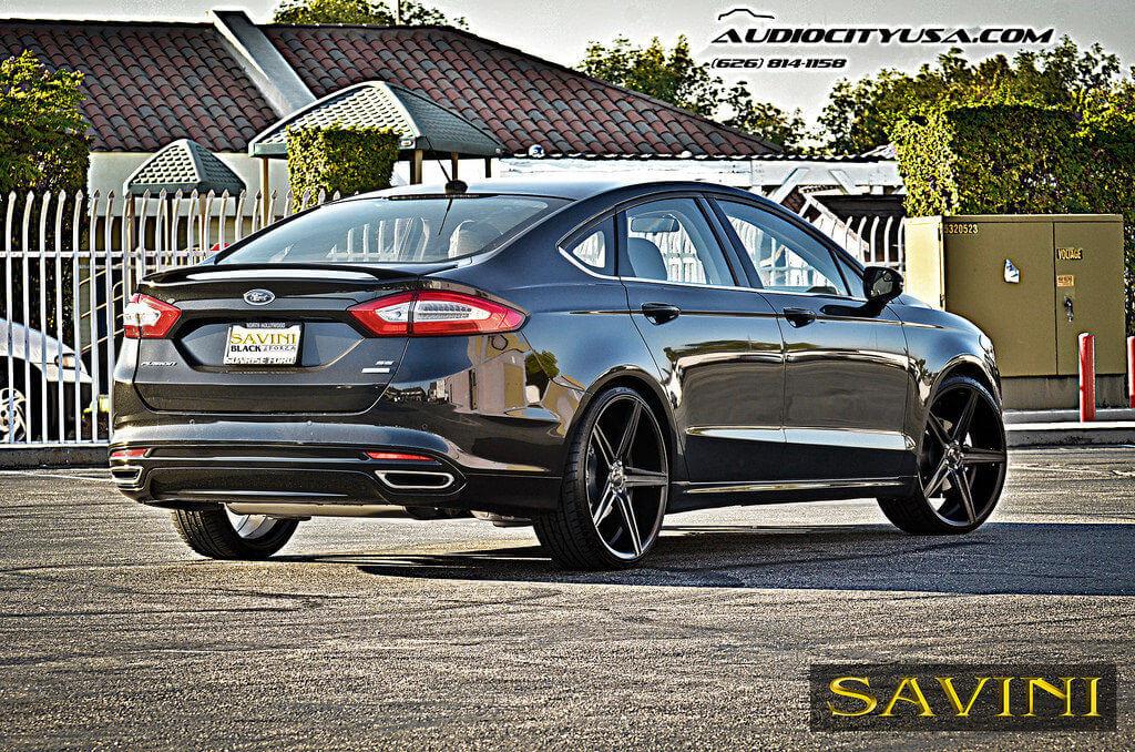 Ford Fusion On 22s >> 22 Savini Bm8 Matte Black On 2013 Ford Fusion Blogblog