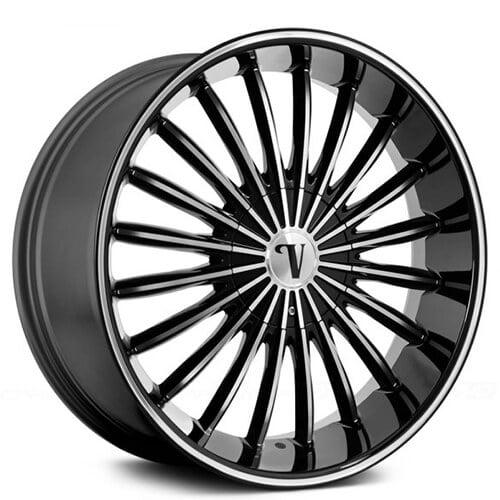 """24"""" Velocity Wheels VW12 Matte Black"""