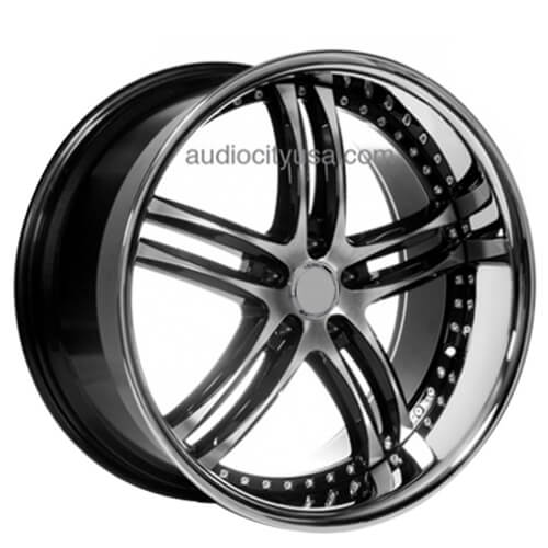 "24"" IROC Wheels Black Machined Rims"