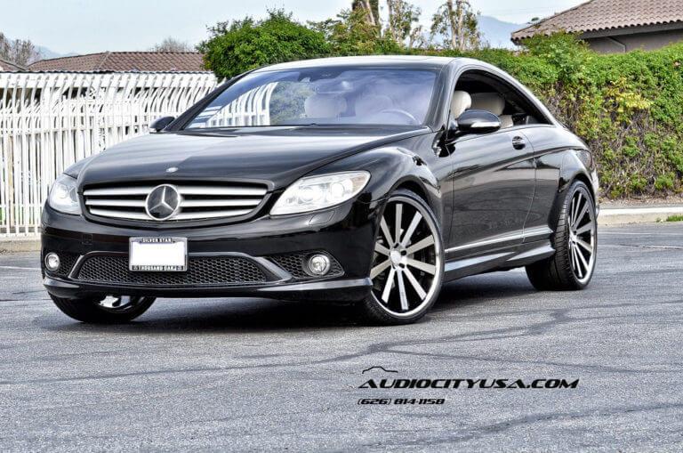 22″ Gianelle Santo 2 ss Black machine | 2008 Mercedes Benz CL 550 | DEEP CONCAVE WHEELS