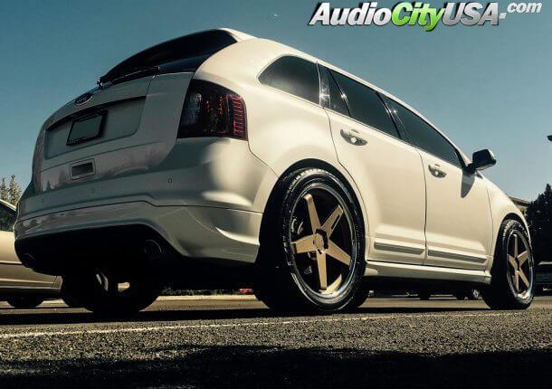 Ford Edge Sport  E  B Blaque Dimaond Wheels Bd  Bronze Face