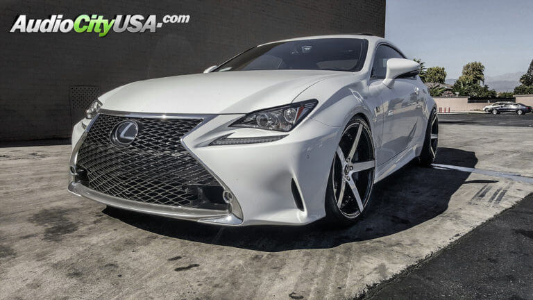 2016 Lexus RC350 | 20″ MQ Wheels 3226 Gloss Black with Brushed Face | AudioCityUSA