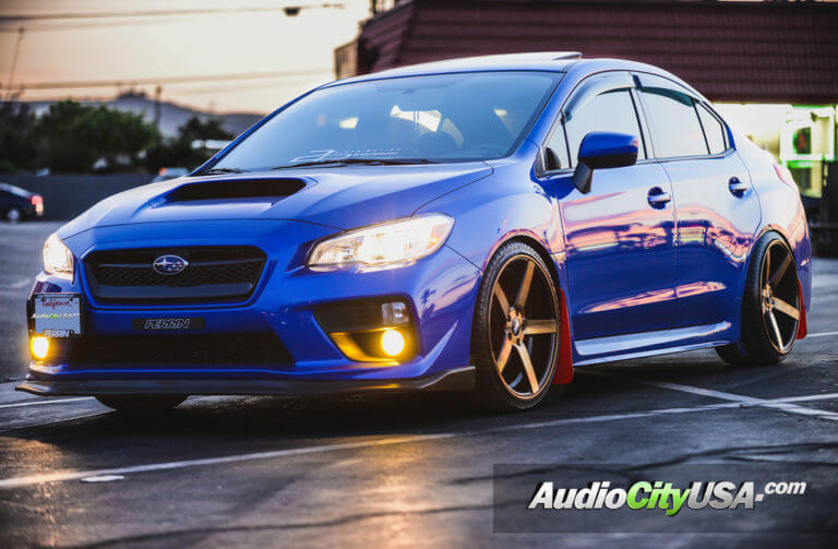 2017 Subaru WRX STI 19″ STR Wheels 607 Titanium Finish Rims *Deep Concave Wheels