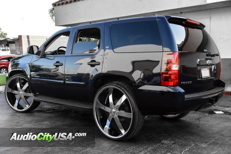 2013 Chevy Tahoe   30″ U2 Wheels 55 Chrome Rims   AudioCityUSA