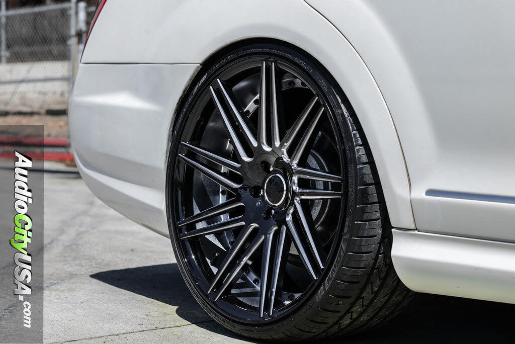 "West Covina Mercedes >> 2009 Mercedes Benz S550 | 22"" Road Force Wheels RF-11 Gloss Black, Milled Windows 