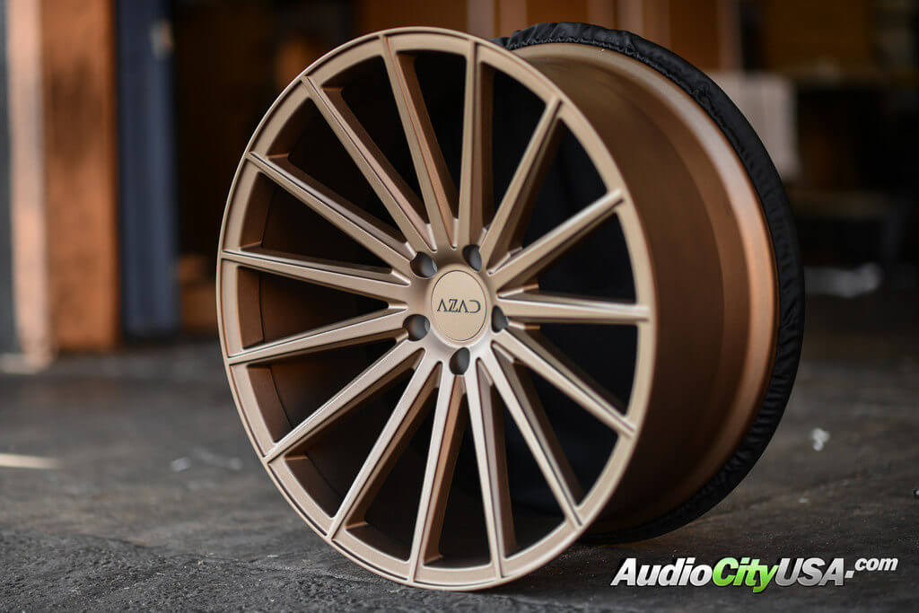 New Azad Wheels Az48 Matte Bronze Semi Matte Black