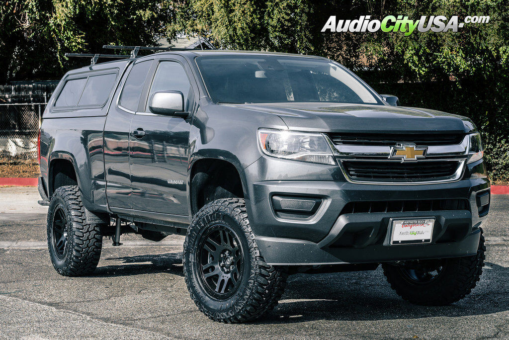 2016 chevy colorado 18 fuel wheels d584 recoil matte black with lexani mud beast tires 6. Black Bedroom Furniture Sets. Home Design Ideas