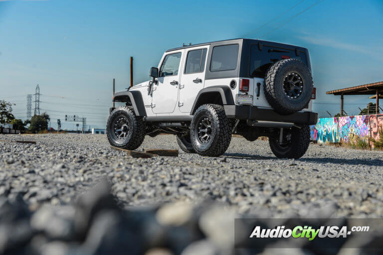 2016 Jeep Wrangler JK Rubicon | 17″ KMC XD Wheels XD798 Addict Satin Black Rims with Toyo RT Tires | 3 1/2″ Rough Country Lift Kit for Off-Road