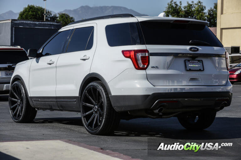 2016 Ford Explorer | 24″ Strada Wheels Osso | AudioCityUsa