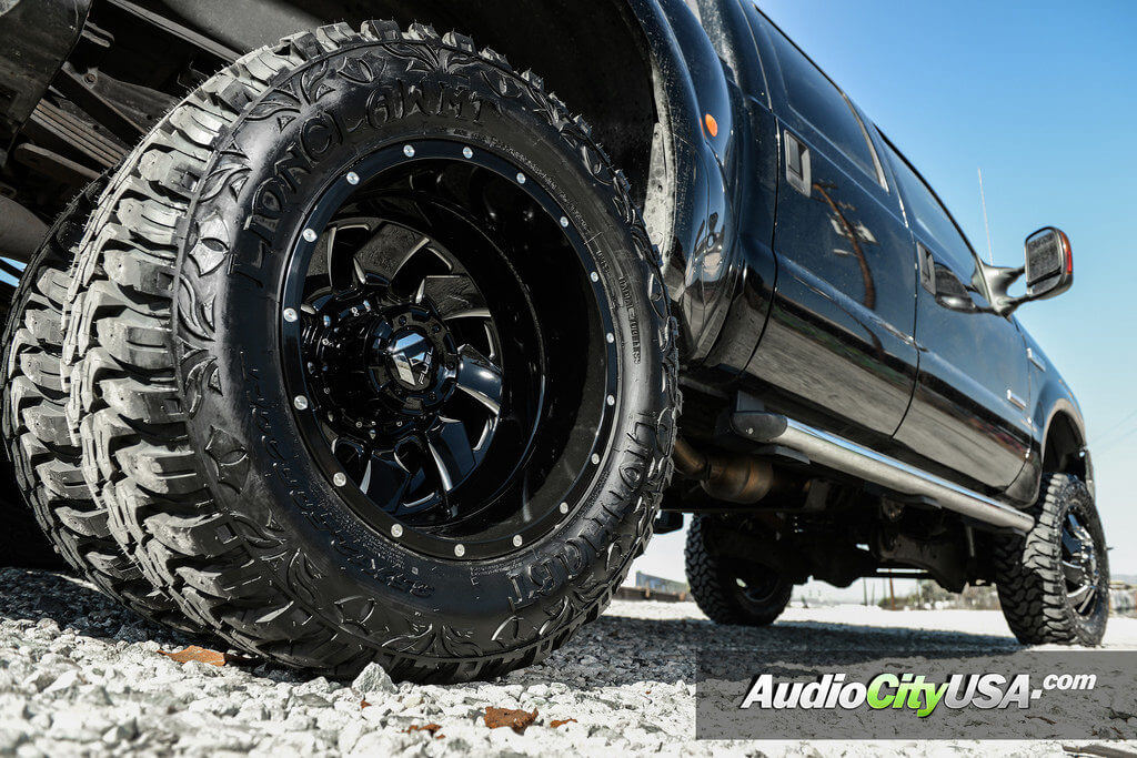 5_ford_f350_dually_20_fuel_wheels_cleaver_offroad_rims_audiocityusa