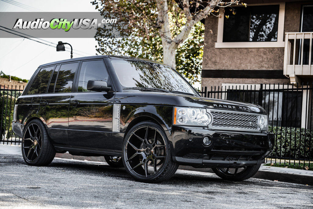 2012 Range Rover HSE  24 Giovanna Wheels Haleb Gloss Black Rims