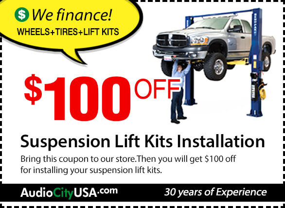Suspension Lift Kits Installation $100 OFF Coupon [Limit Time Special Offer]