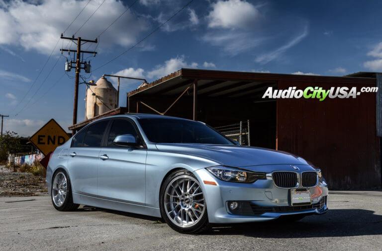 2013 BMW 328i  |  18″ STR Wheels 514 Silver machine rims  |  AudioCityUsa