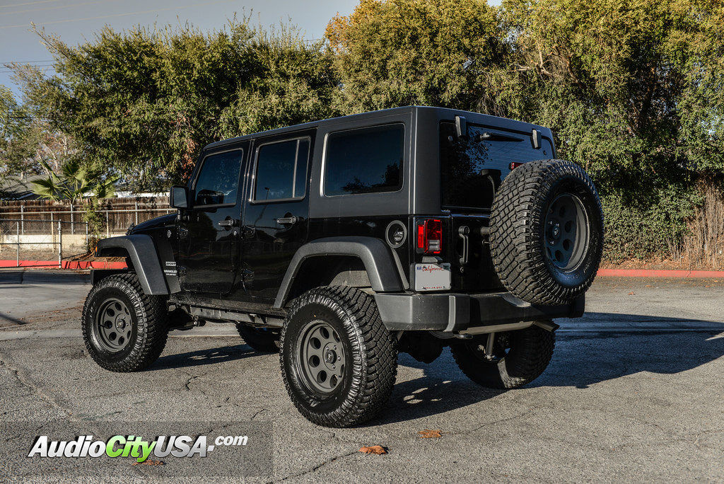 "Jeep Wrangler Rims And Tire Packages >> 2016 Jeep Wrangler JK | 17"" Pro Comp Wheels 7069 Flat Black 