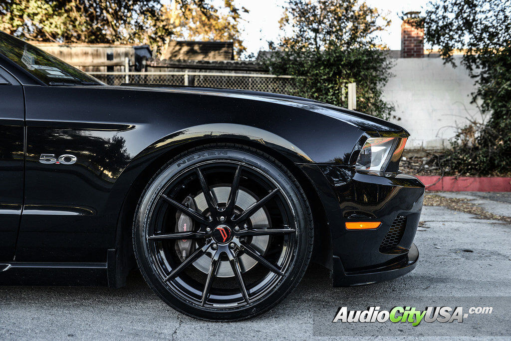 2013 Ford Mustang 5 0 20 Autobahn Wheels Altenberg Gloss Black