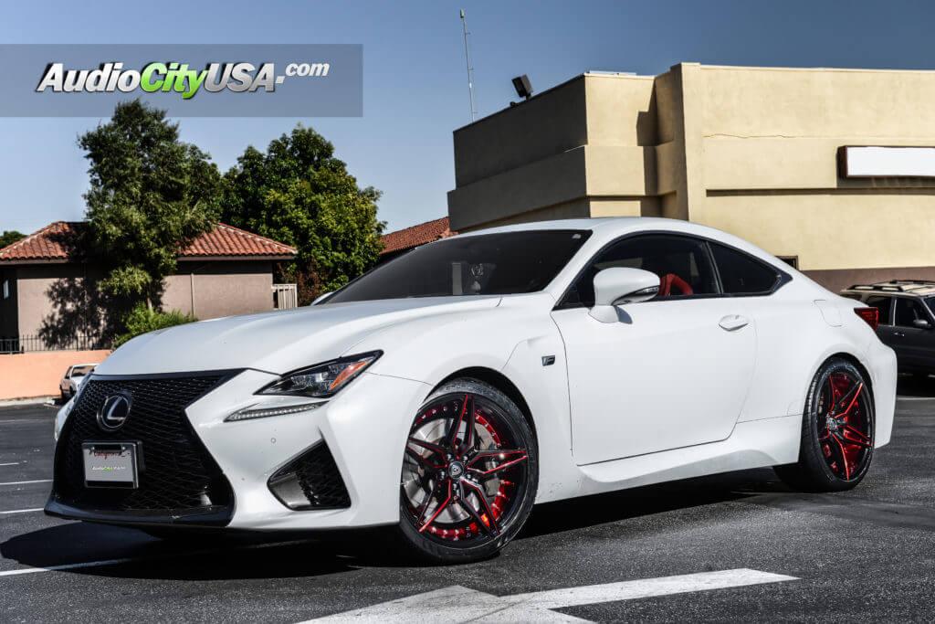 "20"" MQ Wheels 3259 Gloss Black W/ Red Inner Rims"