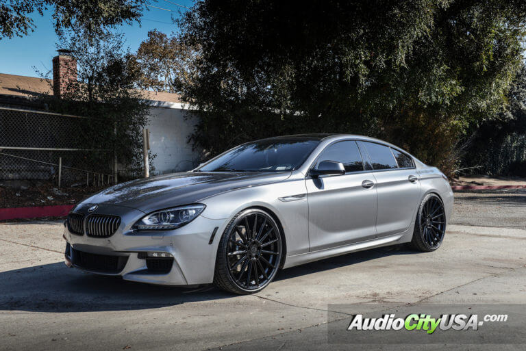 2015 BMW 640i Gran Coupe | 22″ Road Force Wheels RF-15 Gloss Black Rims | H&R Springs | AudioCityUSA