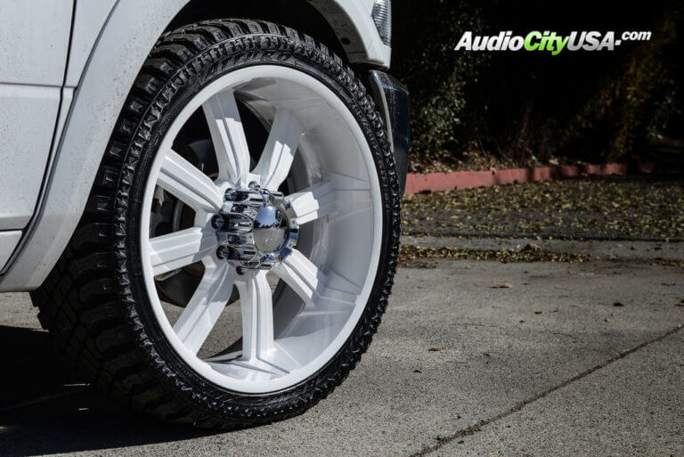 2013 Dodge Ram 2500 Mega Cab | 24″ Dcenti Wheels DW903 Color Martched with Atturo Trail Blade XT Tires | AudioCityUSA