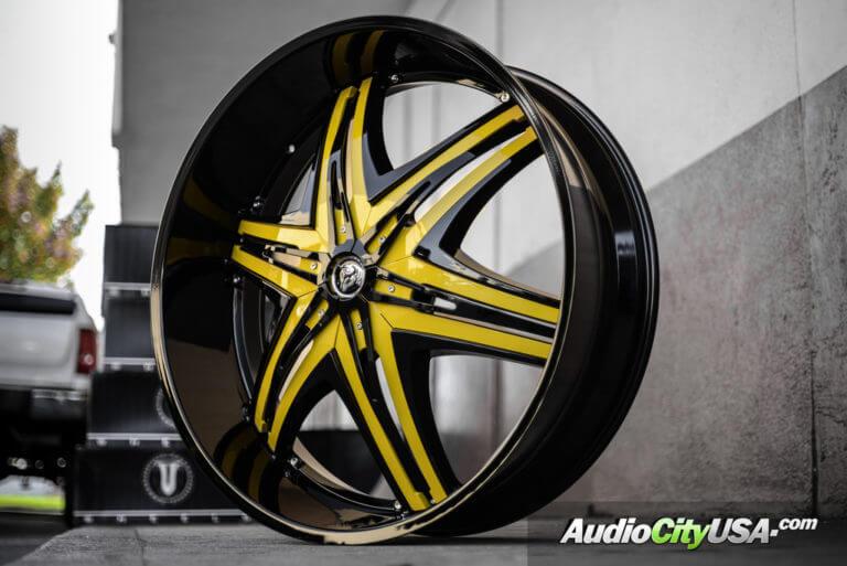 30″ Diablo Wheels Elite Black Lip, Custom Painted Inserts | Hummer H2 Wheels | AudioCityUsa