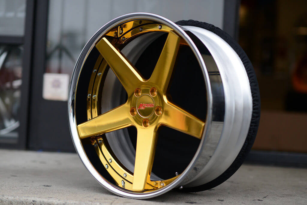 AC Forged Wheels ACR 405 | 24kt Gold, Chrome Lip ...