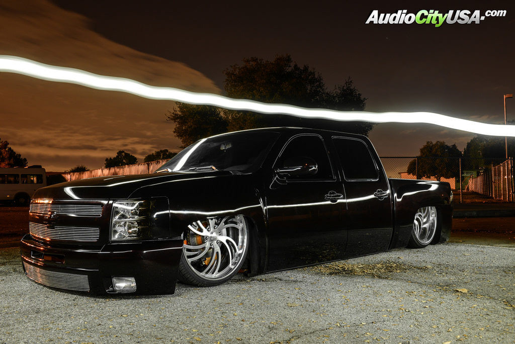 "2017 Buick Grand National >> *Bagged* Chevy Silverado | 26"" Intro Wheels Valleys Brush Face with Polish Lip 