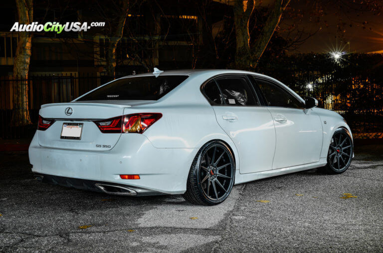 2014 Lexus GS 350 | 20″ Autobahn Wheels Coburg Satin Black Rims | AudioCityUSA