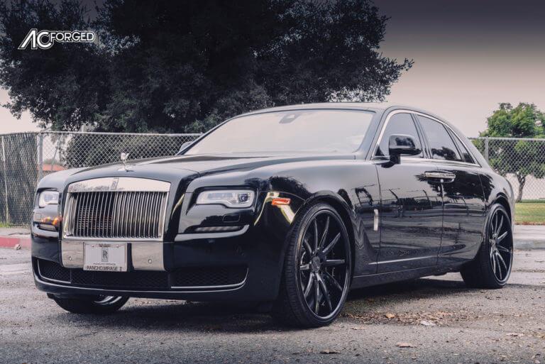 2016 Rolls Royce Ghost   24″ AC Forged Wheels ACR-410 Gloss Black Rims   AudioCityUSA