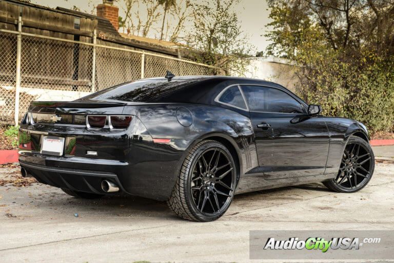 2013 Chevy Camaro | 22″ Giovanna Wheels Bogota Gloss Black Deep Concave Rims | AudioCityUSA