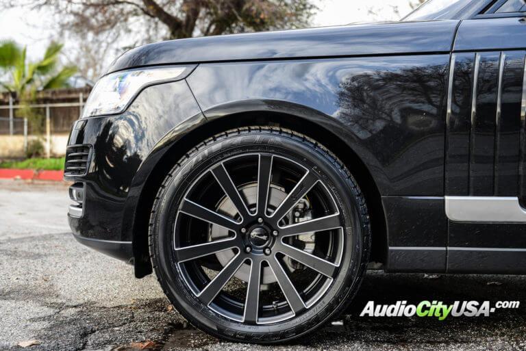 2016 Range Rover HSE | 22″ Giovanna-Gianelle Wheels Santoneo Black W/ Ball Cuts Rims with Falken STZ 05 Tires | AudioCityUSA