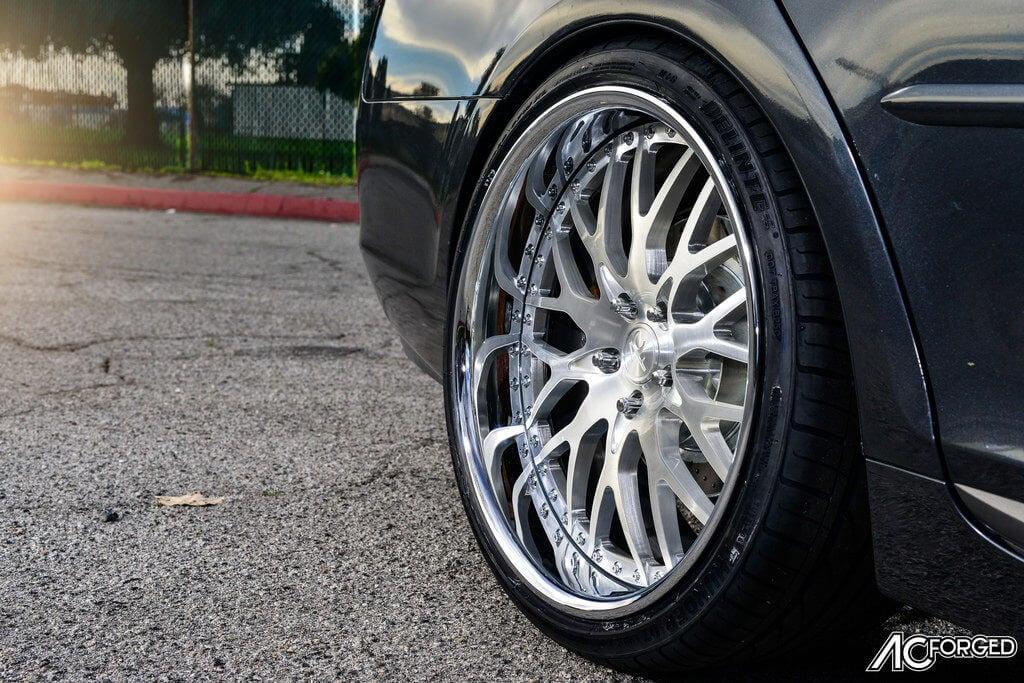 2_Lexus_GS_350_20_AC_Forged_Wheels_313_Brush_Face_Chrome_LIP_AudioCityUsa