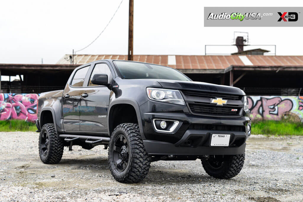 2016 Chevy Colorado Z71 Duramax Sel 18 Xd Wheels Xd811 Rockstar 2 Satin Black Rims 6 Rough Country Lift Kit Rbp Mt Tires Audiocityusa