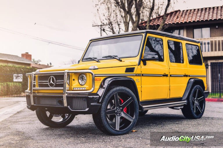 2016 Mercedes Benz G63 AMG G-Wagon | 24″ Giovanna-Koko Kuture Sardinia Black Milled Rims | AudioCityUSA