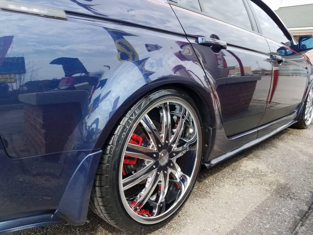"20"" Dcenti Wheels DW29 Chrome with Black Insert Rims Audio City USA"