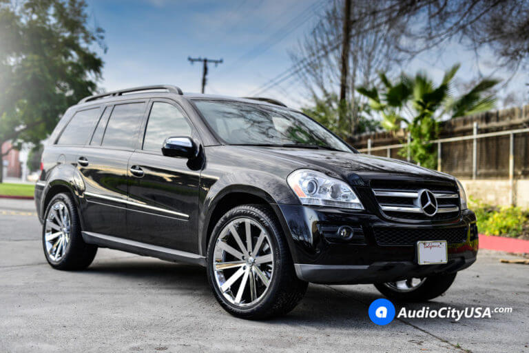 2014 Mercedes Benz GL450 | 22″ Gima Wheels Paradox Chrome Deep Concave Rims | AudioCityUSA