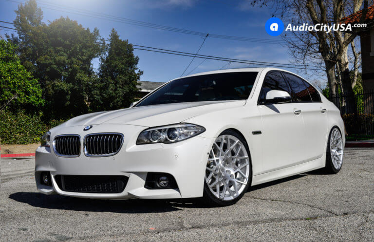 2015 BMW 535i | 20″ Rennen Wheels CRL 90 Brush Silver Rims | AudioCityUSA