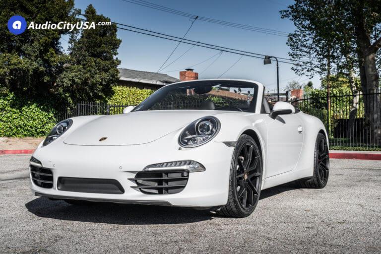 2015 Porsche 911 Carrera Convertible | 20″ XO Wheels X253 Verona Matte Black Rims | Nitto Tires NT555 G2 |  AudioCityUSA