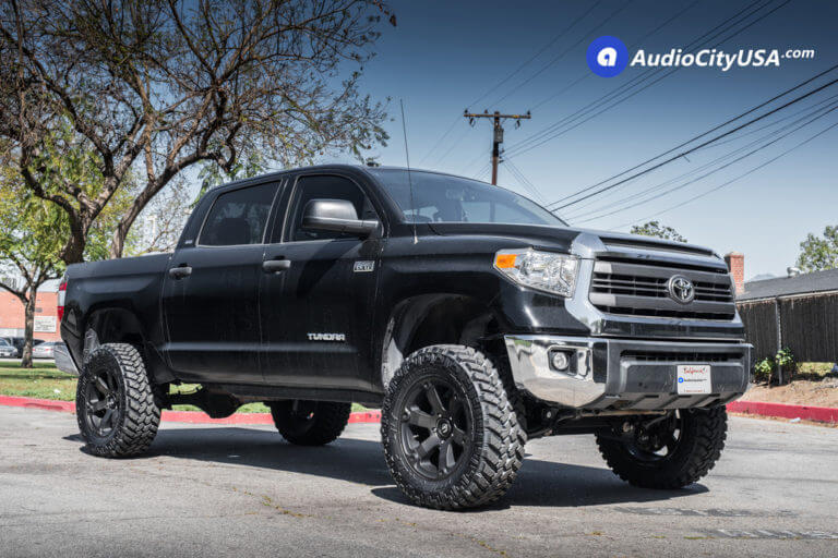 2015 Toyota Tundra | 20″ Fuel Wheels D564 Beast Black Machined with Dark Tint Face Rims | 35×12.5×20 Nitto Trail Grapplers | 6″ Rough Country Lift Kit | AudioCityUSA