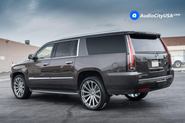2016 Cadillac Escalade ESV | 24″ Velocity Wheels VW12 Chrome Rims | AudioCityUSA