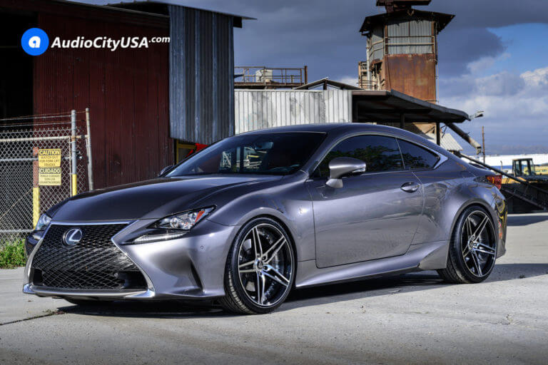 2016 Lexus RC 200t F-Sport | 20″ MQ Wheels 3258 Black Machined Rims | Eibach Sport Springs | AudioCityUSA
