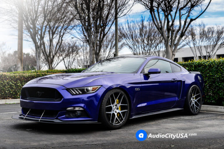 2015 Ford Mustang GT 5.0 | 20″ Rennen Wheels CSL 4 Black Machine | Aggressive Fitment | AudioCityUsa