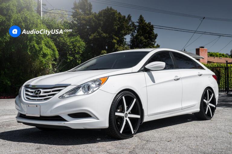 2013 Hyundai Sonata | 22″ Lexani Wheels R-Four Custom Painted Rims | AudioCityUSA