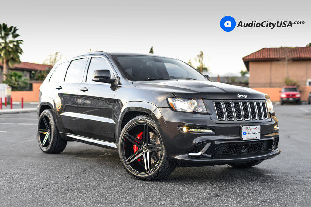 "2017 Jeep Grand Cherokee Srt White >> 2014 Jeep Grand Cherokee SRT8 | 22"" Verde Wheels V39 Parallax Gloss Black Rims 