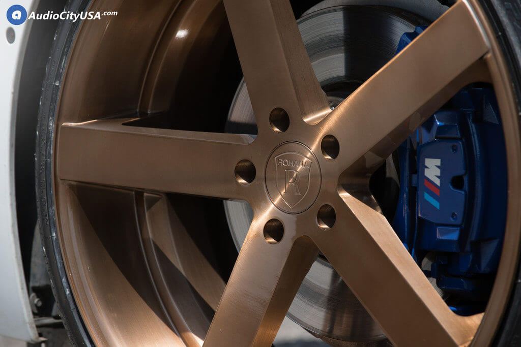 "22"" Rohana Wheels RC22 Custom Brush Copper Rims"
