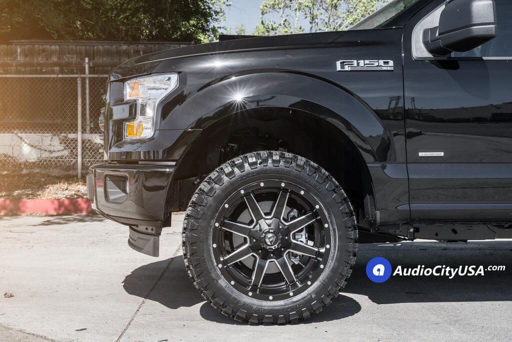 20 Fuel Wheels D538 Maverick Black Milled Rims Rbp Tires M T