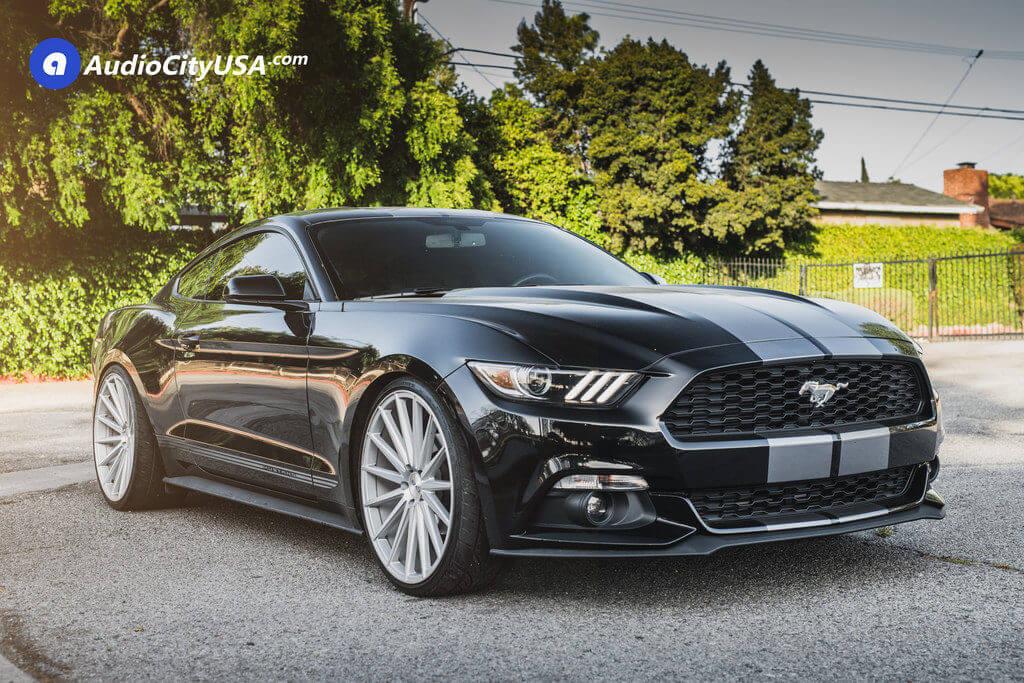 5 2016 Ford Mustang 0 22 Azad Az48 Silver Wheels Audiocityusa 1